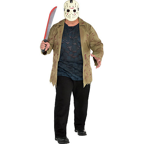 Adult Jason Voorhees Costume Plus Size - Friday the 13th Image #1