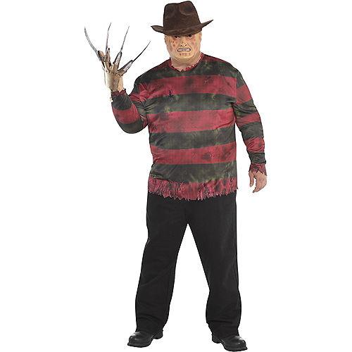 Adult Freddy Krueger Costume Plus Size - A Nightmare on Elm Street Image #1