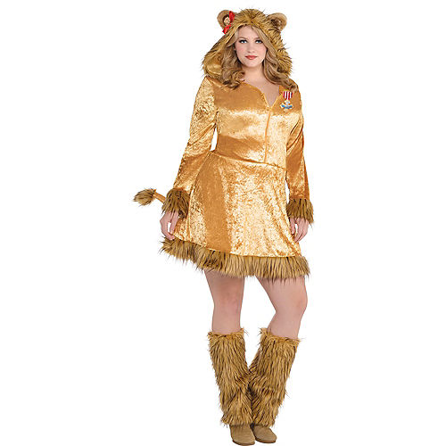 Adult Cowardly Lion Costume Plus Size - The Wizard of Oz Image #1