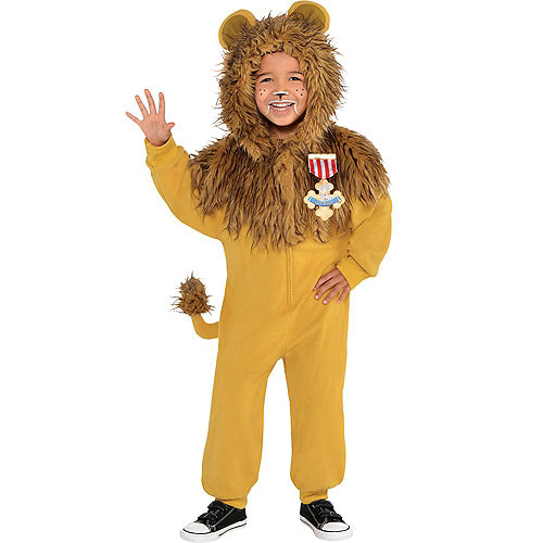 Boys Zipster Cowardly Lion One Piece Costume - The Wizard of Oz Image #1