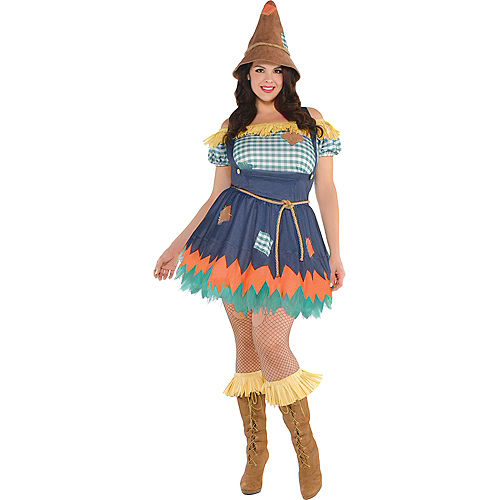 Adult Scarecrow Costume Plus Size - The Wizard of Oz Image #1