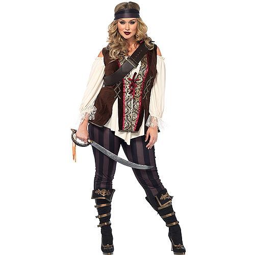 Adult Captain Blackheart Pirate Costume Plus Size Image #1