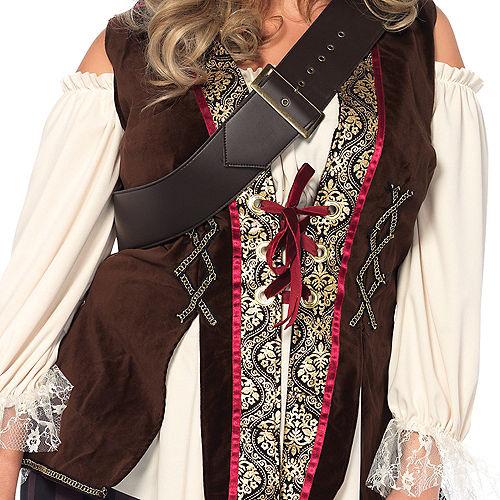 Adult Captain Blackheart Pirate Costume Plus Size Image #4