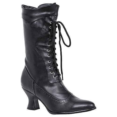 Black Amelia Victorian Boots Image #1