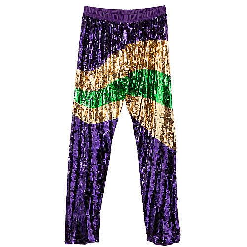 Sequin Mardi Gras Pants Image #1