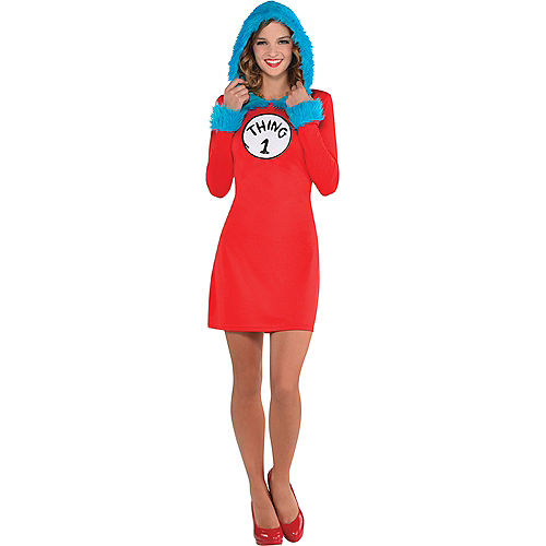 Adult Thing 1 & Thing 2 Hooded Long-Sleeve Dress - Dr. Seuss Image #1