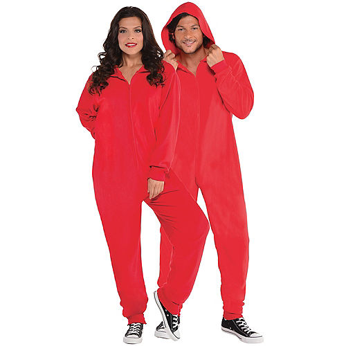 Adult Zipster Red One Piece Costume Image #1
