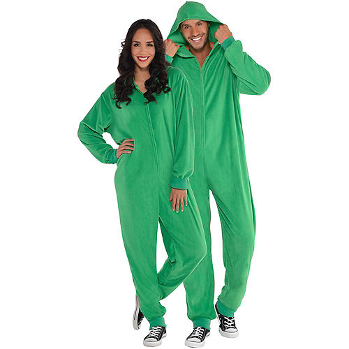 Adult Zipster Green One Piece Costume Image #1