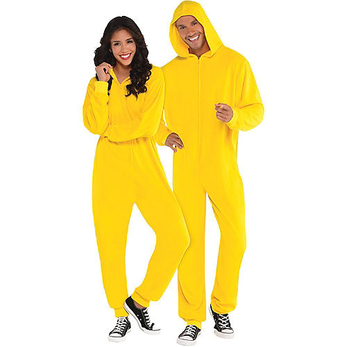 Adult Zipster Yellow One Piece Costume Image #1