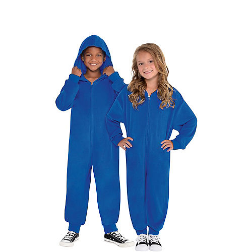 Child Zipster Blue One Piece Costume Image #1