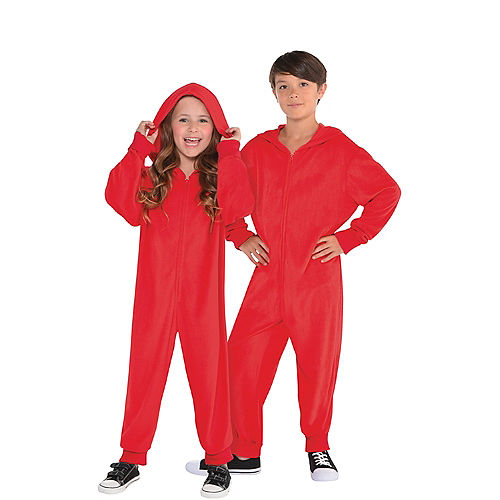Child Zipster Red One Piece Costume Image #1