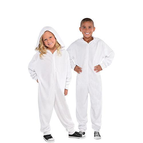 Child Zipster White One Piece Costume Image #1