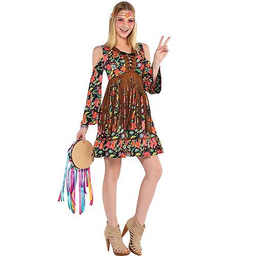Adult Flower Power Hippie Costume Image #1