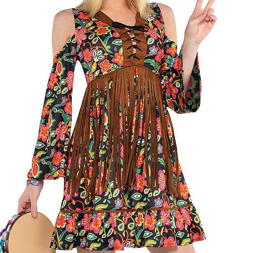 Adult Flower Power Hippie Costume Image #2
