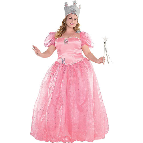 Womens Glinda Costume Plus Size - Wizard of Oz Image #1