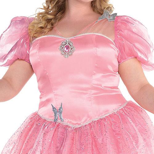 Womens Glinda Costume Plus Size - Wizard of Oz Image #3