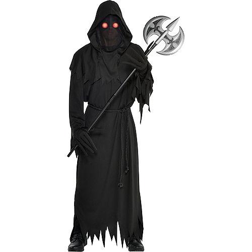 Mens Light-Up Glaring Grim Reaper Costume Image #1