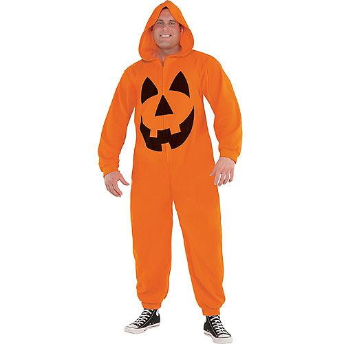Adult Zipster Jack-o'-Lantern One Piece Costume Plus Size Image #1