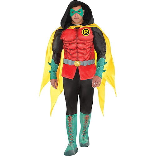 Adult Robin Muscle Costume Plus Size - DC Comics New 52 Image #1