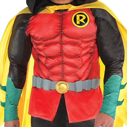 Adult Robin Muscle Costume Plus Size - DC Comics New 52 Image #3