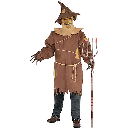 Adult Scary Scarecrow Costume Plus Size Image #1