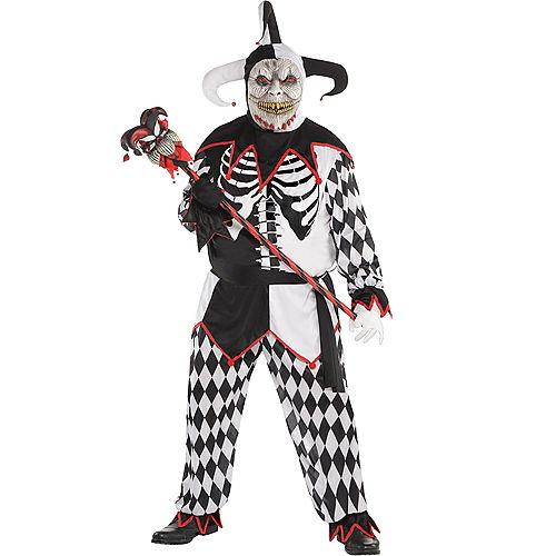 Adult Sinister Jester Costume Plus Size Image #1