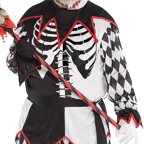 Adult Sinister Jester Costume Plus Size Image #3