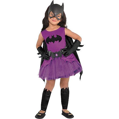Toddler Girls Purple Batgirl Costume - Batman Image #1
