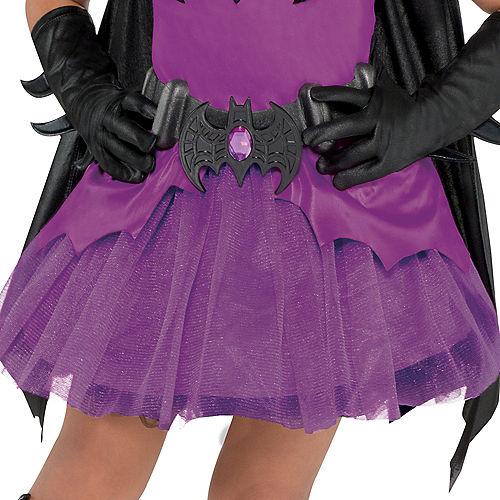 Toddler Girls Purple Batgirl Costume - Batman Image #4