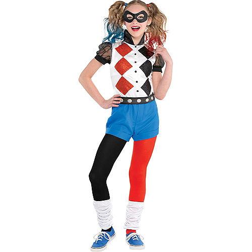 Girls Romper Harley Quinn Costume - DC Super Hero Girls Image #1
