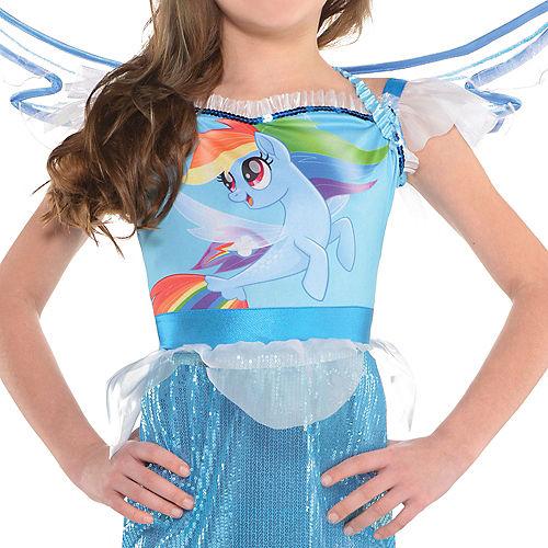 Girls Rainbow Dash Mermaid Costume - My Little Pony Image #3