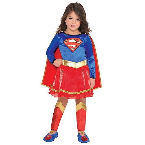 Toddler Girls Classic Supergirl Costume - Superman Image #1