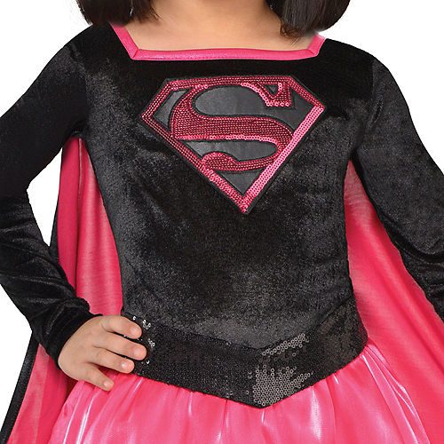 Toddler Girls Pink Supergirl Dress Costume - Superman Image #2