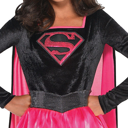 Girls Pink Supergirl Dress Costume - Superman Image #2