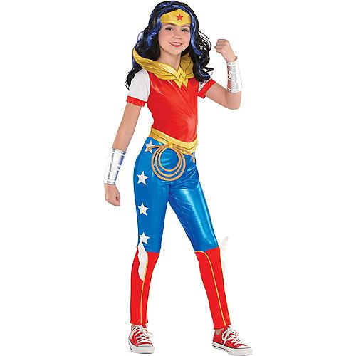 Girls Wonder Woman Jumpsuit Costume - DC Super Hero Girls Image #1