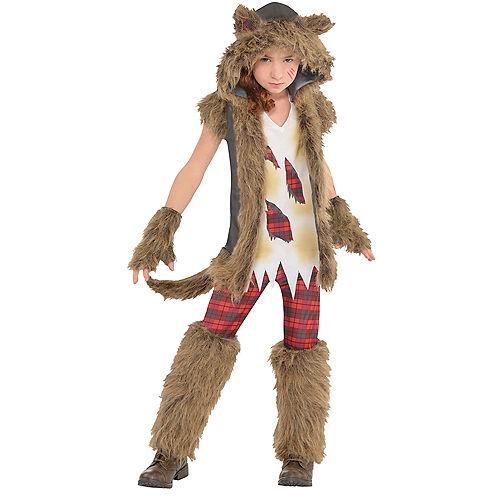 Girls Brown Werewolf Costume Image #1