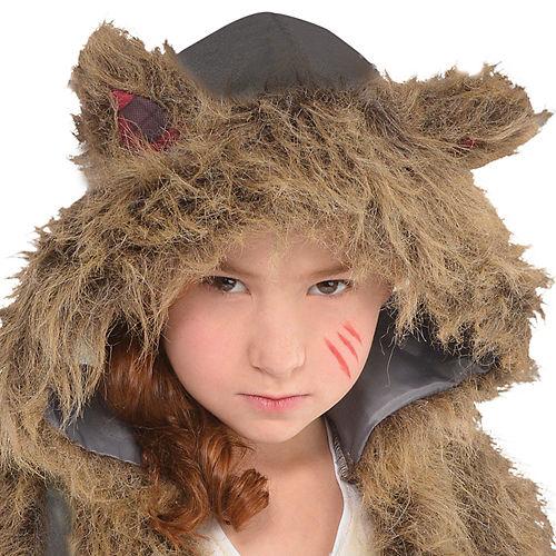 Girls Brown Werewolf Costume Image #2