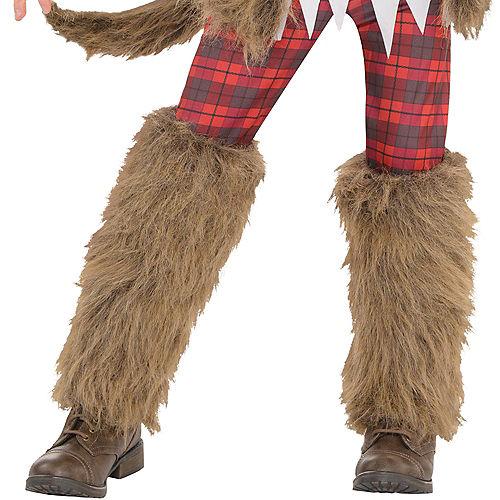Girls Brown Werewolf Costume Image #4