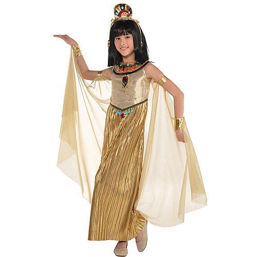 Girls Golden Goddess Costume Image #1