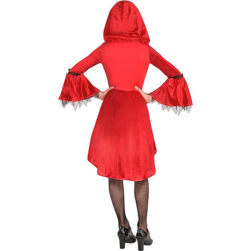 Girls Gothic Red Riding Hood Costume Image #3