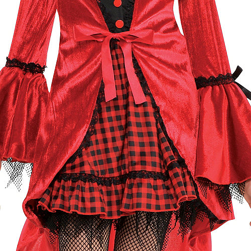 Girls Gothic Red Riding Hood Costume Image #4