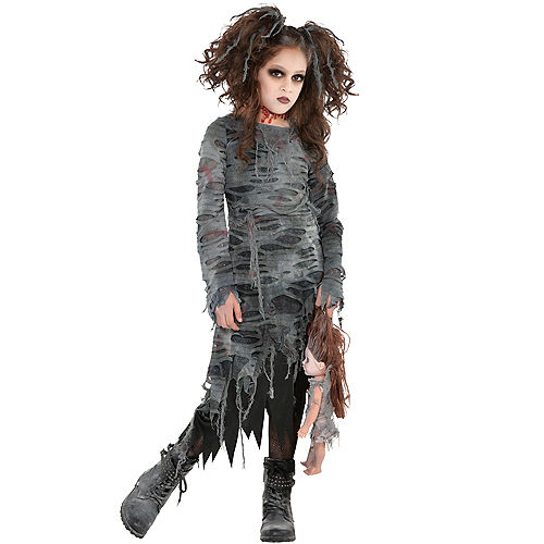 Girls Undead Walker Zombie Costume Image #1