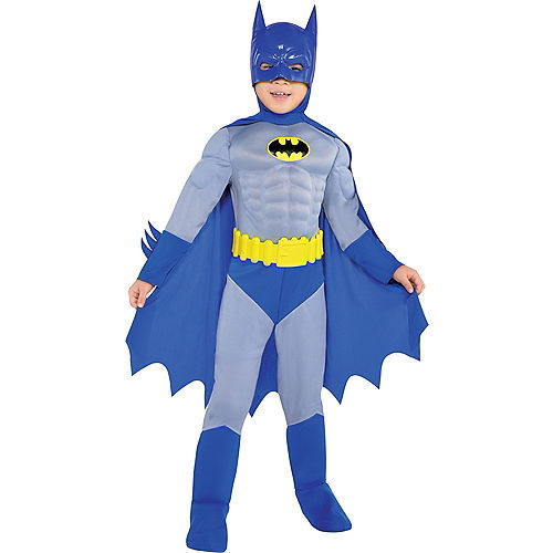 Boys Classic Batman Muscle Costume - The Brave & the Bold Image #1