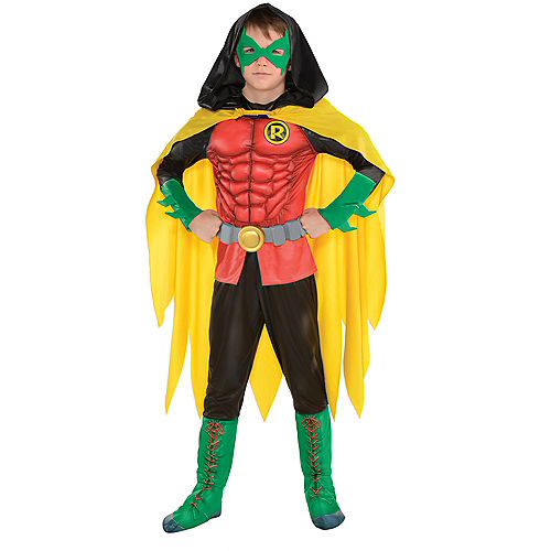 Boys Robin Muscle Costume - DC Comics New 52 Image #1