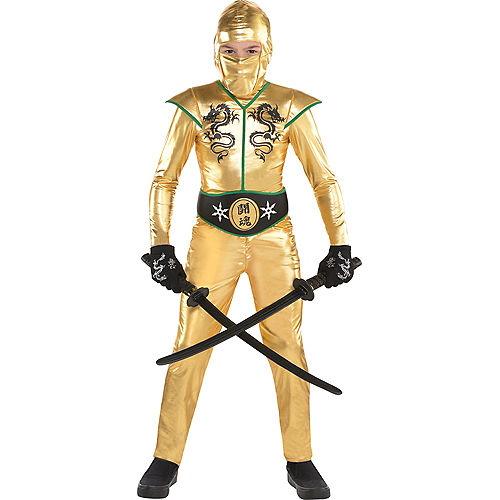 Boys Gold Fighter Ninja Costume Image #1