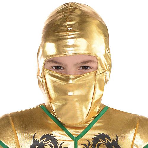 Boys Gold Fighter Ninja Costume Image #2