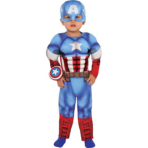 Baby Captain America Muscle Costume Image #1