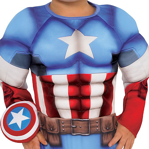 Baby Captain America Muscle Costume Image #3