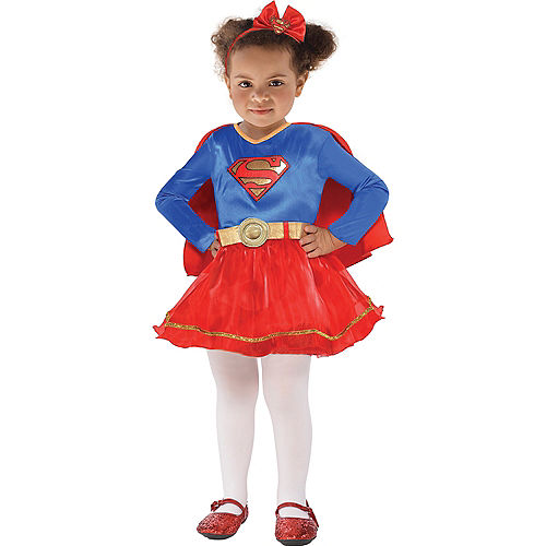 Nav Item for Baby Classic Supergirl Costume - Superman Image #1