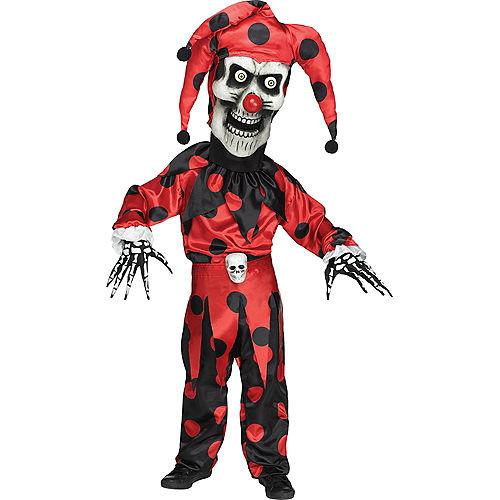 Boys Evil Skeleton Jester Costume Image #1